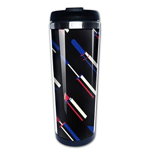 Taza de café de viaje Patrón de lápiz labial Taza de café con aislamiento de acero inoxidable Botella de agua deportiva 13.5 Oz (400 ml) MUG-5628