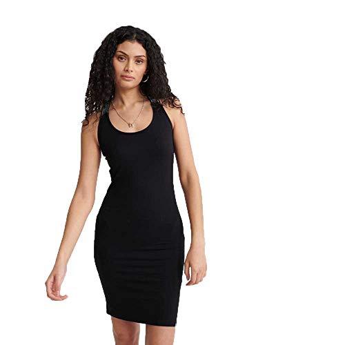 Superdry Damen City Jacquard Bodycon Dress Kleid, Schwarz (Black 02A), M (Herstellergröße:12)