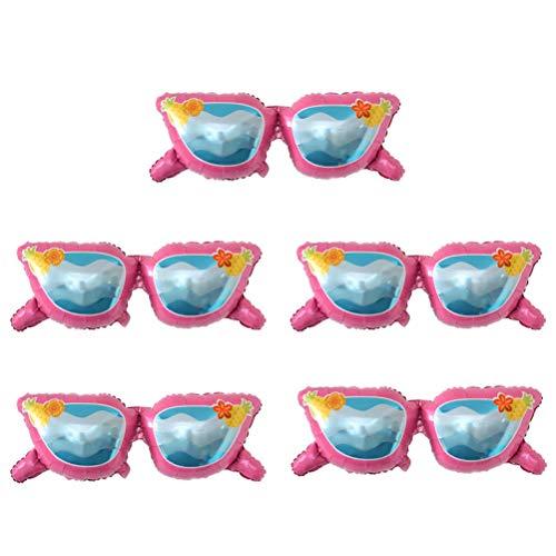 Amosfun 5 globos de película de aluminio de dibujos animados de gafas...