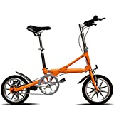 Bicicleta Plegable Adulto Aluminio Bicicleta Unisex Bike,Orange