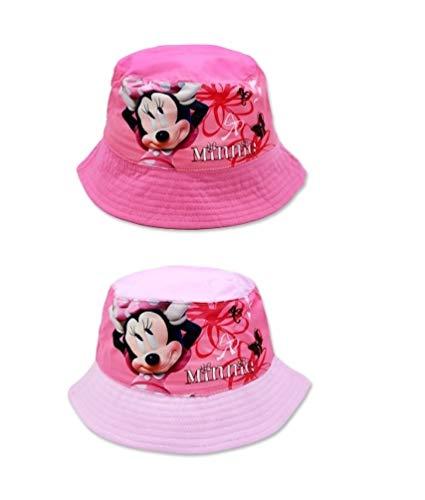 Minnie Mouse Kinder Fischer-Hut Sonnen-Hut Mütze, Farbe:Rosa, Größe:54
