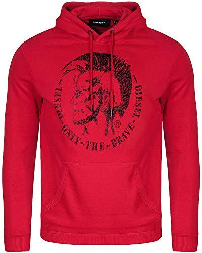 Diesel Herren Kapuzen Pullover S-Agnes-New Rot Größe M