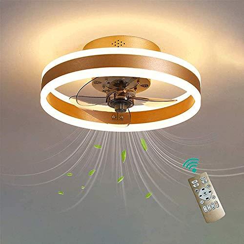 Ventilador De Techo Con Luz, Ventilador LED Ventilador De Techo Con Control Remoto, 3 Velocidades Regulables 3 Velocidades Invisibles Acrílicos Blades De Bajo Perfil Semi Flush Mount Ventilador Cerrad