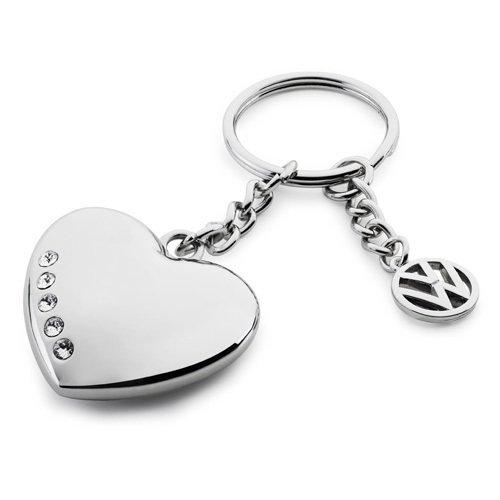 VW Schlüsselanhänger Herz Swarovski Kristalle 33D087010A