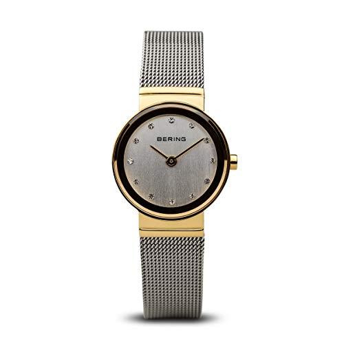 BERING Damen-Armbanduhr Analog Quarz Edelstahl 10126-001