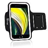 RevereSport Brazalete Deportivo iPhone SE 2020. Antideslizante contra Sudor Armband para Correr, Fitness. Gimnasio, Ciclismo. Teléfono Funda de Ejercicio