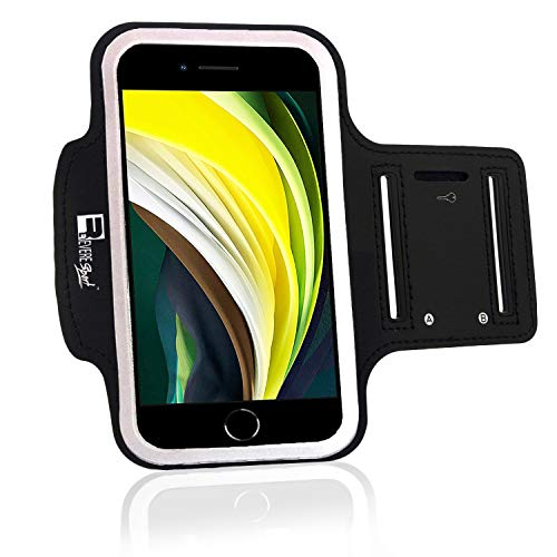 RevereSport iPhone SE 2020 Sportarmband. Armband Telefon Handy Halter Case für Laufen, Workout, Joggen und Fitness