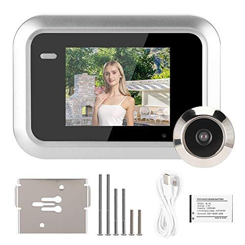 Visor de Puerta Digital Inteligente, Mirilla Oculta de 2,4 Pulgadas Fuera de la Puerta, Mirilla de grabación de Fotos con cámara Gran Angular de 145 °, Pantalla TFT LCD