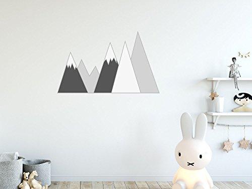 creatisto Wandsticker Kinder I Wandaufkleber Wanddeko Wandtattoo I Wandgestaltung für Babyzimmer - Design: Berg und Tal