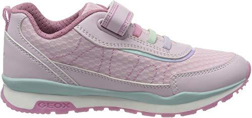 Geox Mädchen J Pavel Girl A Sneaker, Pink (Lt Pink/Dk Pink C8099), 28 EU