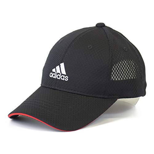 (アディダス) adidas キッズ 帽子 キャップ 子供 CAP ライトメッシュ バイザー 男の子 女の子 小学生 サッカー 運動 紫外線予防 紫外線対策 ひよけ 熱中症 ボーイズ 508k (01 ブラック)