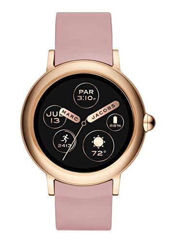 Marc Jacobs Riley Gen 3in silicone rosa da donna Smartwatch MJT2004