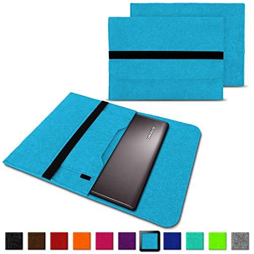 NAUC Notebook Tasche Hülle für Lenovo Yoga C930 900 900 S 910 510 520 530 710 720 730 13,3-14 Zoll Filz Sleeve Schutzhülle aus Filz mit Innentaschen, Farben:Türkis