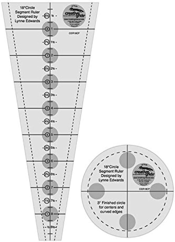 Creative Grids Circle Segment Quilting Ruler 18 Degree Wedge Quilt Ruler by Creative Grids