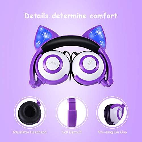 Esonstyle, Kids Headphones, (Purple + White)