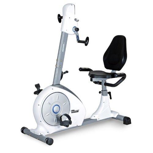 Velocity Exercise Dual Motion Recumbent Bike, White