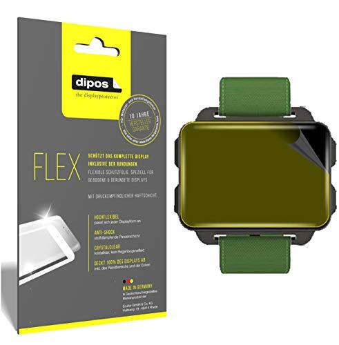 dipos I 3X Schutzfolie 100prozent kompatibel mit LEMFO LEM4 Smartwatch Folie (Vollständige Bildschirmabdeckung) Bildschirmschutzfolie