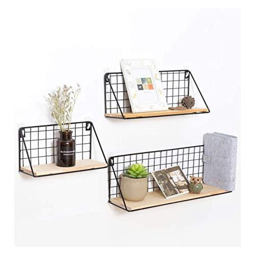 XLYYHZ Estantes flotantes decorativos de metal negro, para montaje en pared, para sala de estar, dormitorio, exhibición 1HUIYANG-01020