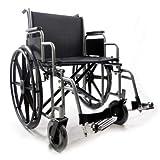 Silla de ruedas barizásica – Cochecito de autoempuje plegable – Doble crucero – Obesi/Large – Intermed modelo Big One – Neumáticos llenos – Dim. asiento 61 cm