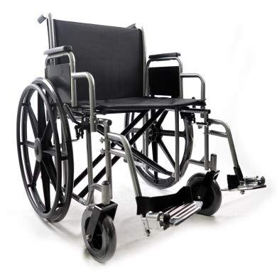 silla de ruedas bariatrica–Cochecito autopropulsable Plegable–Doble crucero–obesos/Large–intermed Mod. big-one–gomas herbáceo–DIM. Asiento 61cm