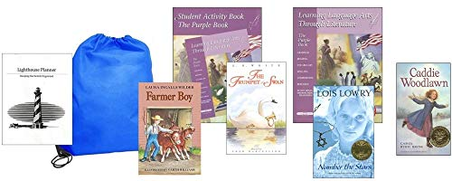 Learning Language Arts Through Literature Purple (Grade 5) Complete Set Homeschool Kit in a Bag