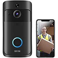 Waterproof IP5 720p HD Wireless Video Doorbell, Motion Detection, Night Vision