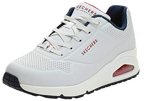 Skechers UNO Stand ON Air, Sneaker Donna, Beige Bianca Durabuck Marina Rosso Trim Wnvr, 35 EU