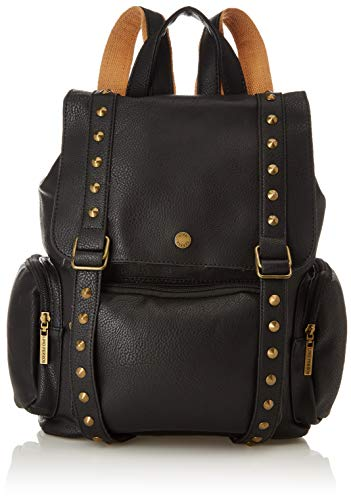 Lino Perros Women's Backpack Artificial Leather (Tan) (Black) (BLACK)