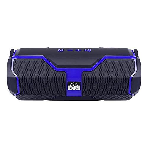 H HILABEE Altavoces inalámbricos Bluetooth prácticos y portátiles, Suministros portátiles de Graves Profundos envolventes, para Fiestas en casa, portátil, PC, Negro