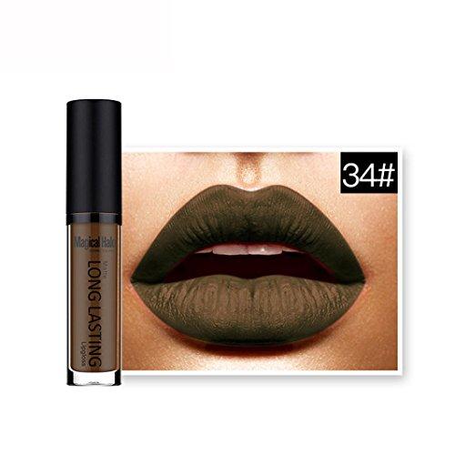 kalorywee Wasserdicht Matte Flüssigkeit Lippenstift Long Lasting Lip Gloss Lippenstift, 1Stück