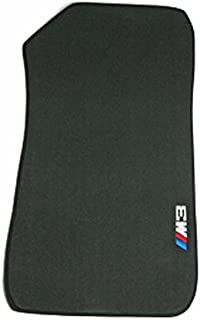 BMW Genuine M3 Logo Black Floor Mats for E92 - 3 SERIES ALL MODELS COUPE (2005 - 2010), set of Four