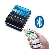 ZUKN Imprimante D'étiquettes Thermiques 58Mm Mini-Autocollant Portable Machine d'impression sans Code-Barres Bluetooth Bluetooth Compatible avec Android iOS Support Windows Et Bluetooth