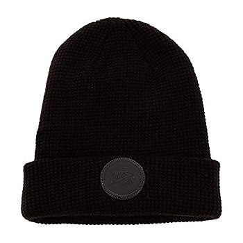 NIKE Unisex Air Beanie Knit Hat  Black/Reflective Black