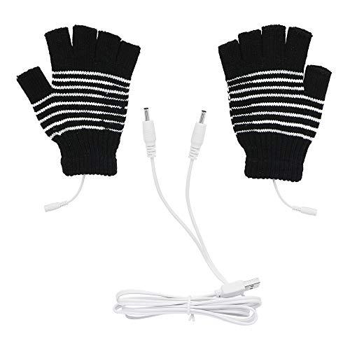 Guanti elettrici USB invernali caldi guanti isolanti termici guanti riscaldanti febbre guanti KANGPING per sci/sport all'aria aperta/inverno calore (nero)