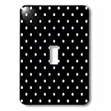 PS Creations - Black and White Polka Dots - Whimsical Art - Light Switch Covers - single toggle switch