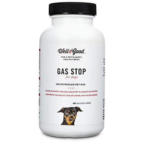 Well & Good Gas Stop Dog Tablets, 60 Count