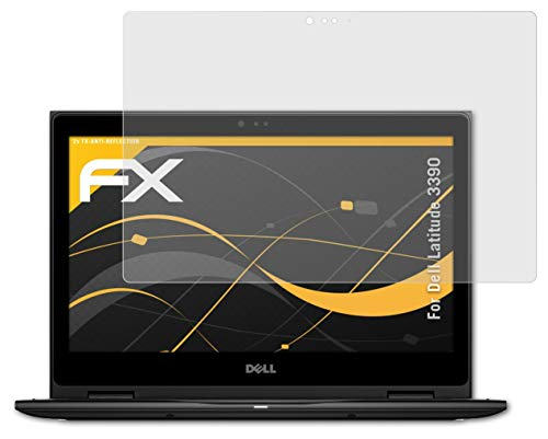 atFoliX Screen Protector compatible with Dell Latitude 3390 Screen Protection Film, anti-reflective and shock-absorbing FX Protector Film (2X)