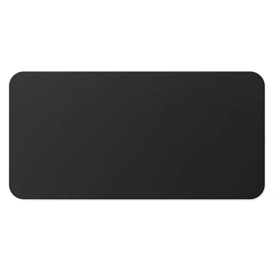 行為パッド六分儀プーレザー 大きな 無地 マウスパッド,じゃない-スリップ 簡単 ネクタイ付きデスクパッド,防水 オフィスマウスマット,勉強 オフィス用デスクマット ゲーマー 仕事 黒 50x100cm