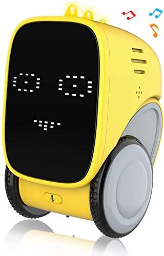 Ok K! okk Robots para niños, Juguete Educativo Stem con Control de Gestos, grabación de Voz, expresión Facial variada, Control de Voz, cumpleaños para niños y niñas (Amarillo)