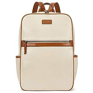 BROMEN Laptop Backpack for Women Leather 15.6 inch Computer Backpack Business Large Travel Daypack Bag 4
