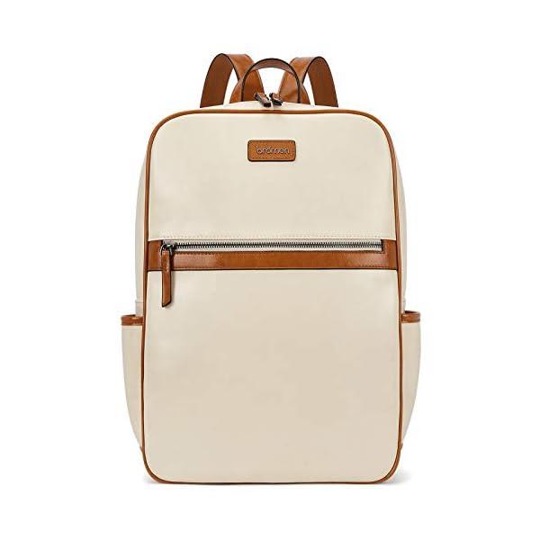 BROMEN Laptop Backpack for Women Leather 15.6 inch Computer Backpack Business Large Travel Daypack Bag 1
