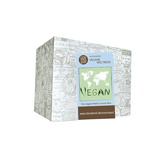 Außergewöhnliche Geschenk Box Vegane Weltreise | Vegane Lebensmittel aus aller Welt | Vegane Süßigkeiten Geschenke für Veganer | Für vegane Ernährung
