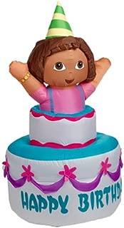 Gemmy Self Inflating Dora The Explorer on Happy Birthday Cake, 4-Feet Long