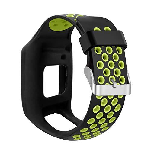 Viesky Correa de silicona suave a prueba de golpes para reloj TomTom 1 Multi-Sport GPS HRM CSS AM Cardio Runner Accesorios
