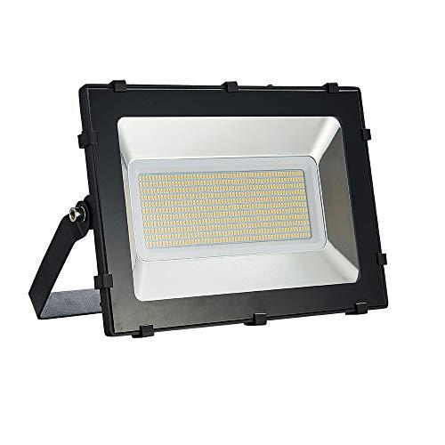 Viugreum Faretto LED da Esterno 300W, IP67 Resistente all'acqua Proiettori per Esterni, Luce Di Sicurezza 30000LM, 3000K Bianco Caldo, Consumo Basso Super Luminoso per Giardino, Magazzino