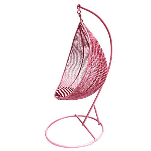 NUOBESTY 1:12 Mini sedia da casa in miniatura Teardrop, modello in miniatura, accessorio per casa delle bambole colore casuale