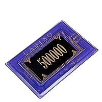 TX GIRL 10ピース/ロットアクリルポーカーチップカジノチップテキサスホールデムポーカーレクタングルポーカークラブチップ14色 (Color : 500000)
