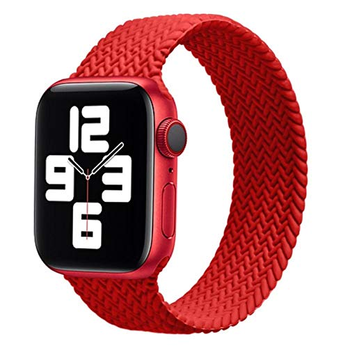Correa de silicona trenzada Solo Loop para Apple Watch band 44mm 40mm 38mm 42mm Pulsera elástica para iWatch Series 6 SE 5 4 3