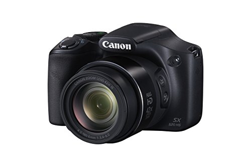 Canon SX520 HS PowerShot Digitalkamera (16 MP, 7,5cm (3 Zoll) LCD-Display,CMOS, 42-Fach Opt. Zoom) schwarz