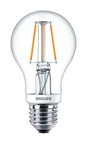 Philips LED Classic Edison Schraubfuß Retro-Filament Warmweiß Dimmbare Glühbirne, Glas, Warmweiß, E27, 4,5 WattW
